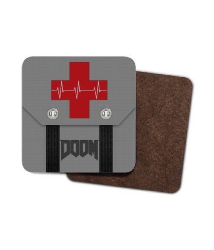 Doom Medikit Single Hardboard Coaster